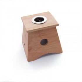 Boîte à Moxa en bambou avec 1 trou - pour cigare