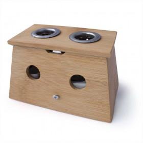 Boîte à Moxa en bambou avec 2 trous - pour cigare
