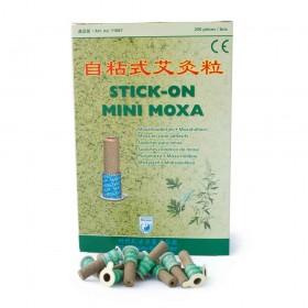 Cônes adhésifs de moxa avec support en carton